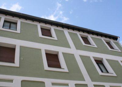 Andrasa. Fachadas SATE. Barrio La Cruz. Bilbao