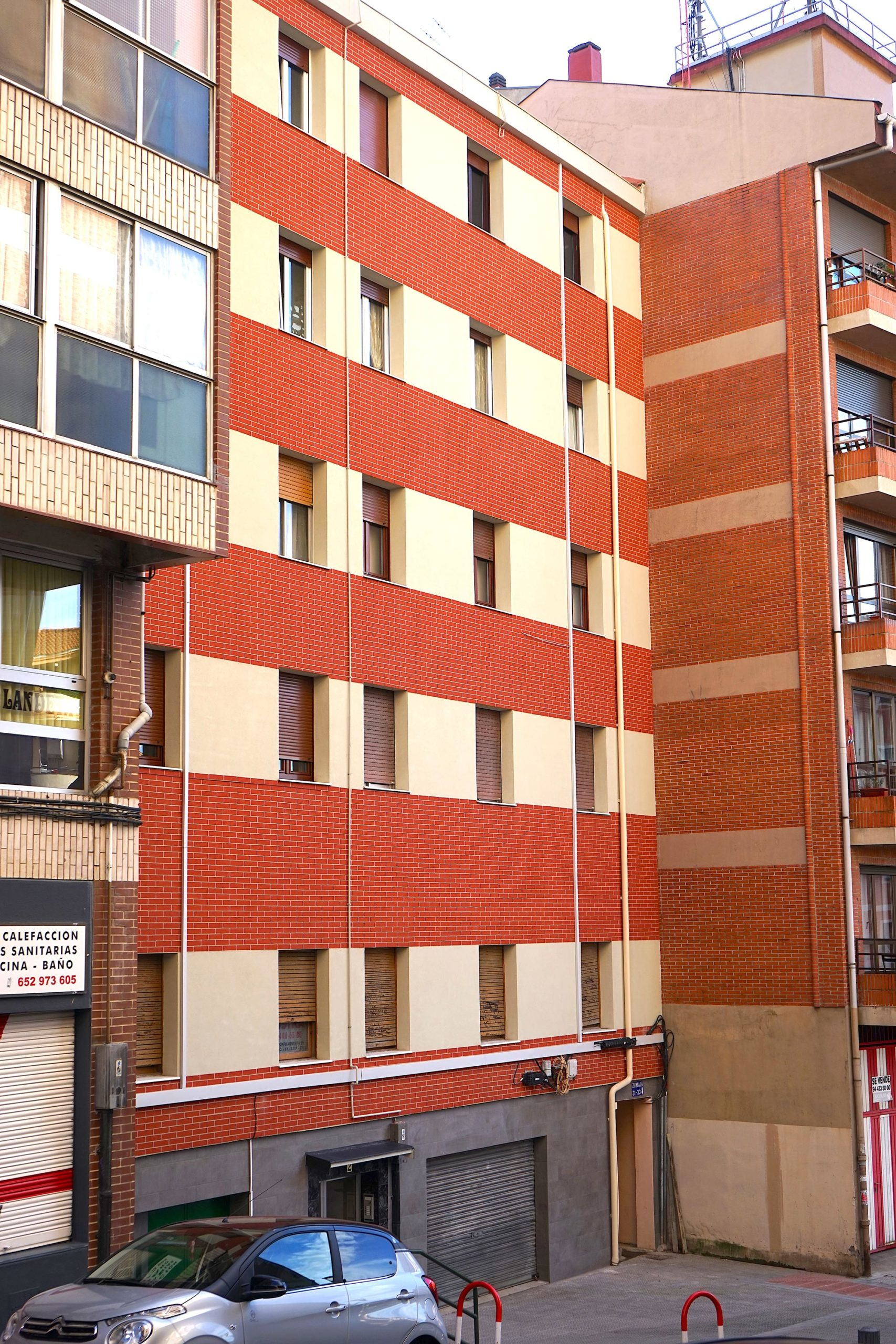 Andrasa. Fachada SATE. Camino Landeta 2. Bilbao