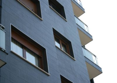 Andrasa. Fachadas SATE. Juan De La Cosa 28. Bilbao